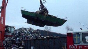 Boot sloop afvoer oud ijzer